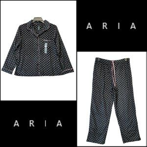 Aira Women Polka Dot Fleece Top & Pants Pajama Set